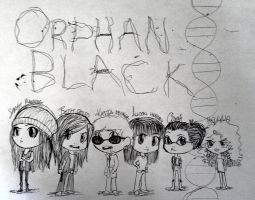 Orphan Black Clones by ThePhantomsMUSE