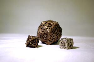 Steampunk Dice by huan80