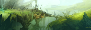 Landscape Painting Practice by NesoKaiyoH
