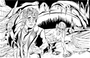 The Hobbit - Inks by KileyBeecher