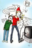 Cry and Bro Sing: Rudolph the Red Nosed Raindeer by ZomB-san