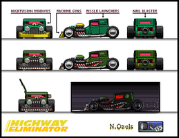"Hot Rod ""Highway Eliminator"" by NOzols"