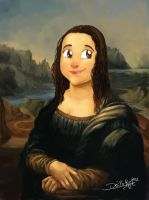 Monalisa Cartoon by Deciokun