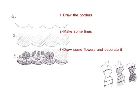 How to draw lace by ANTXIA