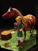 Ocarina Link painted II by vrlovecats