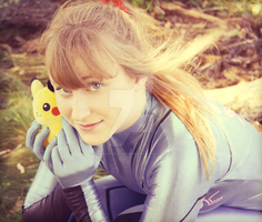 Samus loves Pikachu by EnchantedCupcake