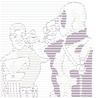 Punisher vs Deadpool ascii by NoBullet