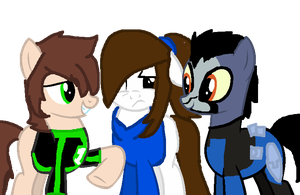 MLP Ben, Danny and Rook! [Lets go!] by RubytheCat12