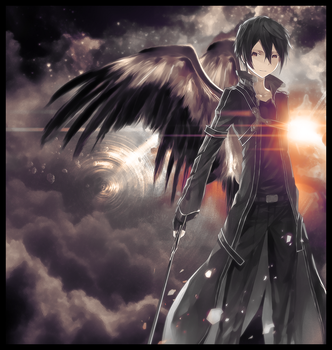 Winged Kirito by FXual