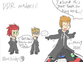 Demyx playing...DDR? by BluesKirby