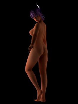 Ayane standing in dark3 sm by Ayane-chin