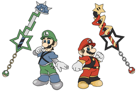 Mushroom Kingdom Hearts - Bros by OrsumParis