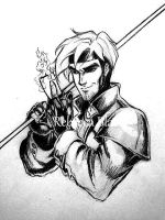 Gambit Sketch by R-becca