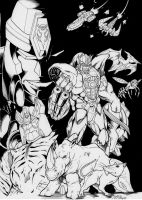 IDW BW Sourcebook cover by Inker-guy