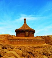China in sand by Holly-James
