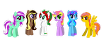 MLP FiM OCs Mane 6 Group by Sonic-Tube