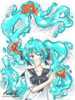 Bottle Miku by AnnaChaveiro