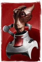 'Tell Them I Held The Line' - Mordin S. by OttoRobba