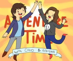 adventure time with caio e aninha by NiniLiger
