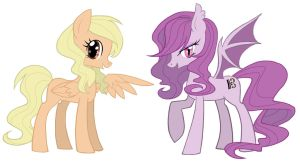 Kit and Suzu as Ponies by sukinorules