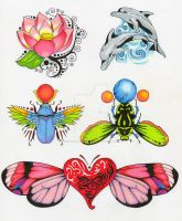 Mostly Bugs Tattoo flash by QuickSilverArtist