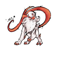 Absol shiny by Ravoilie