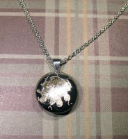 Polished Cracked Sterling Silver Pendant by Utinni
