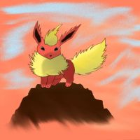 Flareon by Cloudy-Darkness