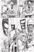 wolverine comic page 2 by davechisholm