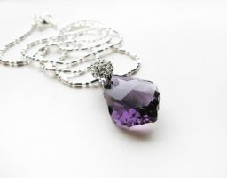 SOLD - Amethyst Crystal Necklace by crystaland