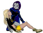 Raven Rescues Terra by Glee-chan