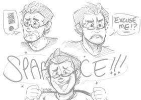 Markiplier: Expression Doodles by lewisrockets