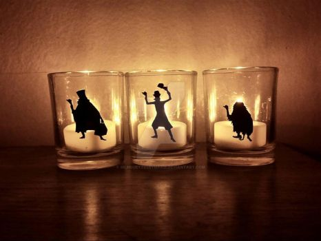 Hitchhiking Ghost Votive Candle Holders by SilhouettesbyMarie