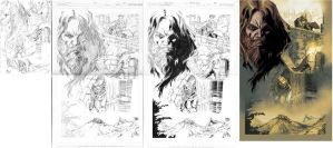 Demon Knights#11 page 12, process. by robsonrocha