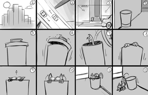 Storyboard practice 01 by Mickeymonster