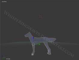 Canine 3D Model (Might Sell) by Whisperingwaves