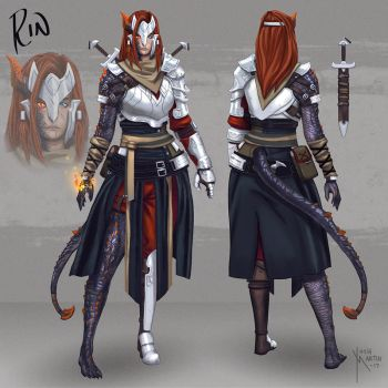 Rin Character Sheet ARTWAR by joshua-mARTin