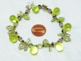 Uranium glass fruit salad bracelet, sunlight by wombat1138