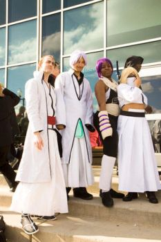 Yoruichi and the Arrancars by VampyKoumori