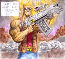 Duke Nukem - I Like Big Guns by Finfr0sk