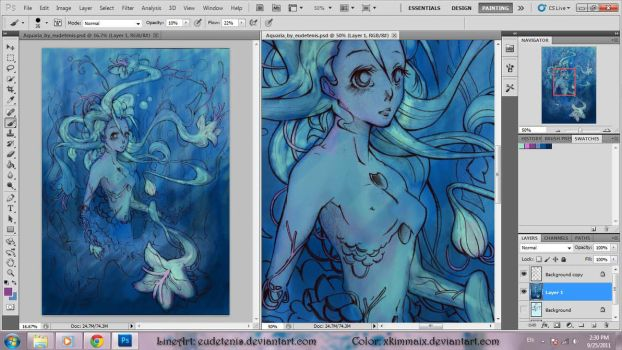 Aquaria by Eudetenis Color WIP by XKimmaiX