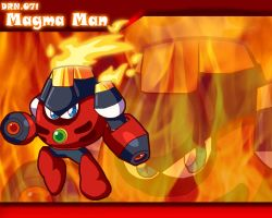 Magmaman Powered Up Wallpaper by Galaxyman-da-Awesome