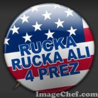 Rucka For President Badge by Mikeoeagle