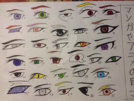Manga and anime eyes XD by Black8blood8YoLo