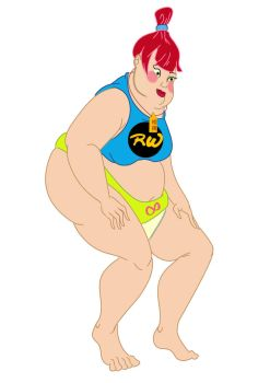 Rubber Woman Sumo Form Updated design by tombola1993
