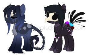 ~Adoptable~. Female Ponies 17-18 :CLOSED: by Xanty-Adopts