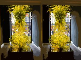 Halcyon Gallery Window Chihuli Glass Matisse Style by aegiandyad