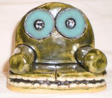 Chair 2:  The Sofa With Giant, Luminous Eyes. by aberrantceramics