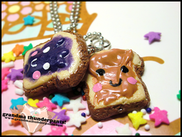 PB+J Friendship Necklaces by GrandmaThunderpants
