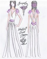 Wedding dress design entry by many-lots-lovely